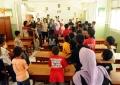 Murid-murid SD Muhammadiyah Kadisono Bantul di Biennale Jogja XI