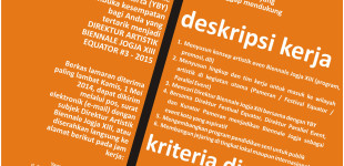 poster lowongan directur artistik biennale jogja 2015