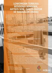 poster residensi bangalore 2014